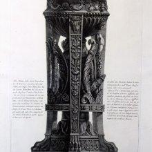 PIRANESI, Giovanni Battista (1720-1778). Tripode, ovvero Ara antica di marmo ritrovata l'anno 1775 negli scavi fatti fare dal Sig. Gavino Hamilton nel sito, ove si crede, che fosse l'antica Cittá di Ostia. [1788?]