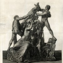 Gruppo antico di figure dº. volgarme. Il Toro Farnese. [17--]