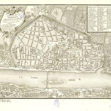 ORLEÁNS (Francia). Plano de población. 1777