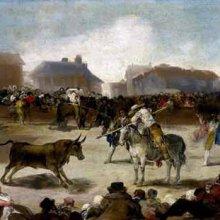 Corrida de toros en un pueblo (entre 1808 y 1812)