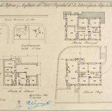 MUGURUZA OTAÑO, Pedro (1893-1952). Proyecto de reforma y ampliación de una casa particular en Fuenterrabía. Pedro Muguruza Otaño.1946