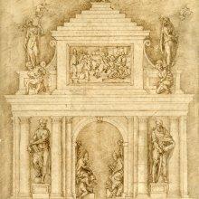Proyecto para las sepulturas de León X y Clemente VII. Baccio Bandinelli
