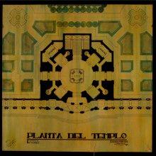 GARCÍA MERCADAL, Fernando (1896-1985). Proyecto de Templo a San Isidro. Presentado ante el tribunal de oposiciones para pensionado de Roma. -- 1923