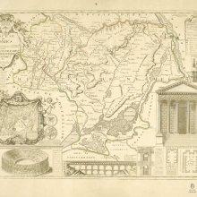NIMES (Diócesis). Mapa general. 1698
