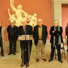 Inauguración exposición Luis Gordillo 01