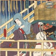 Kunisada. la monja Narukami