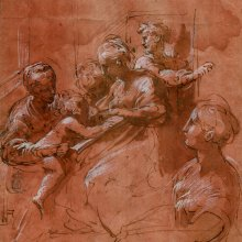 """Desposorios místicos de santa Catalina. Girolamo Francesco Mazzola, """"Parmigianino"""""""