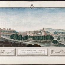 Vista de la Alhambra de Granada, desde el castillo de Torres Bermejas. José de Hermosilla