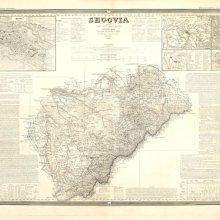 SEGOVIA (Provincia). Mapa general. 1849