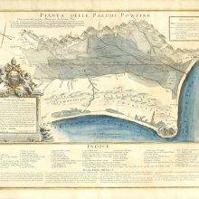 PONTINAS (Lagunas). Mapa hidráulico. 1778