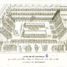 Auto de fé general que se celebró en la Plaza Mayor de Madrid el dia 30 de Junio de 1680 con asistencia del Rey D. Carlos II. [1680]