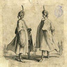CALLOT, Jacques (1592-1635). [Dos turcos de perfil]. [ca. 1617]