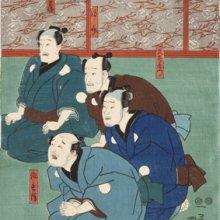 Utagawa Kuniyosi. La historia de Sakura