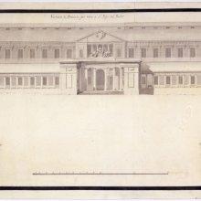 Gabinete de Historia Natural, hoy Museo del Prado. Alzado de las fachadas principal y laterales (norte y mediodía). Juan de Villanueva