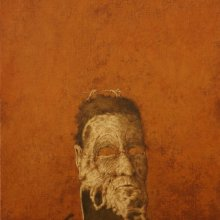 Máscara de desprecio. 2007. Óleo sobre lienzo. 46 x 38 cm. Colección Familia José Hernández © José Hernández. VEGAP, Madrid 2015