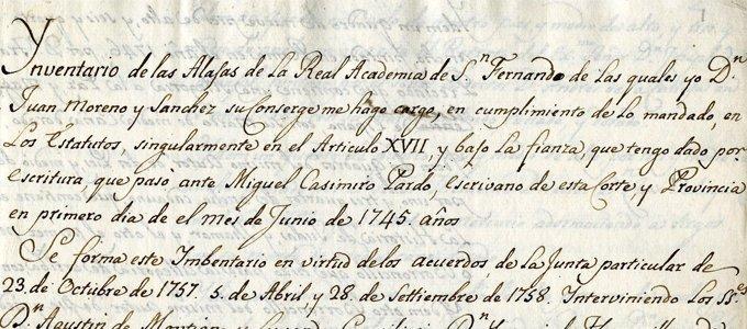 Inventarios y catálogos históricos