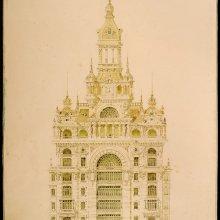 MORALES DE LOS RÍOS, Adolfo (1858-1928). Casa Salvo. Montevideo: [estudios para un proyecto]. Adolfo Morales de los Ríos. 1922
