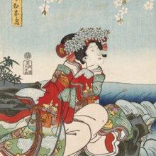 Kunisada. Musume Hinadori