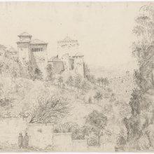 Granada. Alhambra. Vista desde la Cuesta del Rey Chico