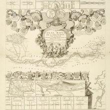 LANGUEDOC (Canal de). Plano. 1697