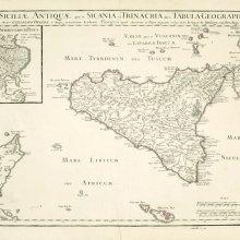 SICILIA (Isla). Mapa general. 1714