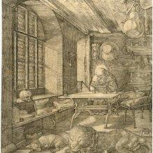 DÜRER, Albrecht (1471-1528). San Jerónimo en su celda. [1514]
