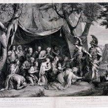 EDELINCK, Gérard. [La tienda de Darío]. [1661]