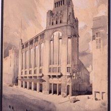 MUGURUZA OTAÑO, Pedro (1893-1952). Palacio de la Prensa.Proyecto de edificio para café y cinematógrafo en la Gran Vía de Madrid. Pedro Muguruza Otaño. 1924